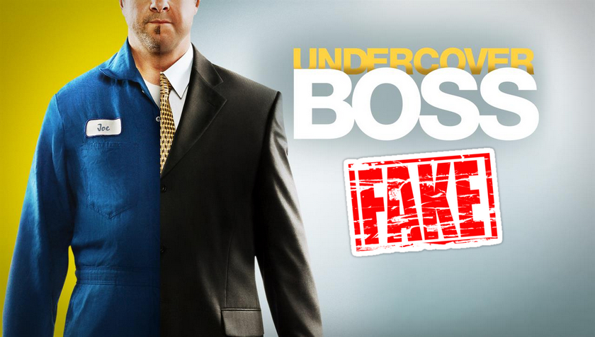 Cosa (non) vedremo in tv: Undercover Boss Fake